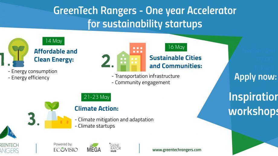 У тебя есть стартап в области эко технологиях? Участвуй в семинарах в рамках программы GreenTech Rangers