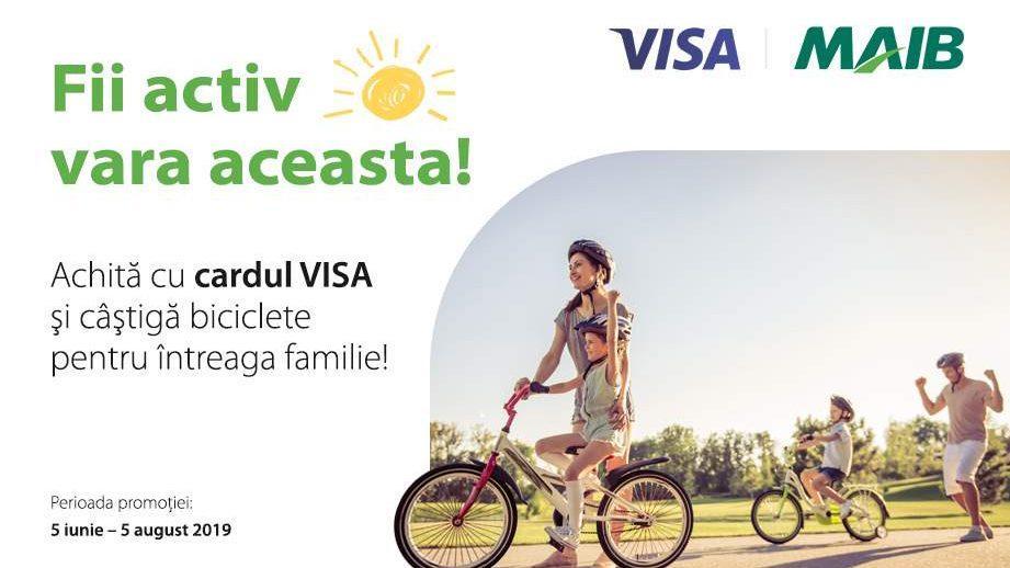 Акция от Moldova Agroindbank: Расплачивайтесь картой VISA и выйграйте велосипед!