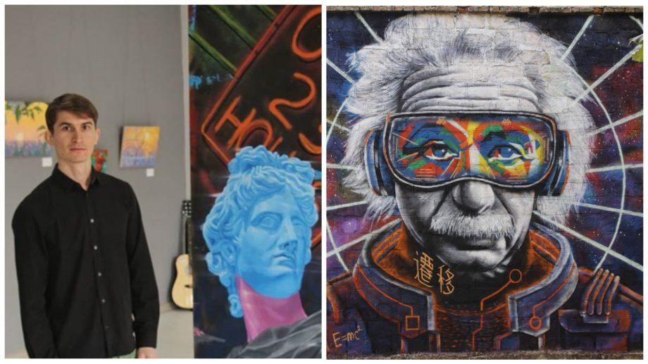 Новый уличный художник непривычно изобразил Эйнштейна