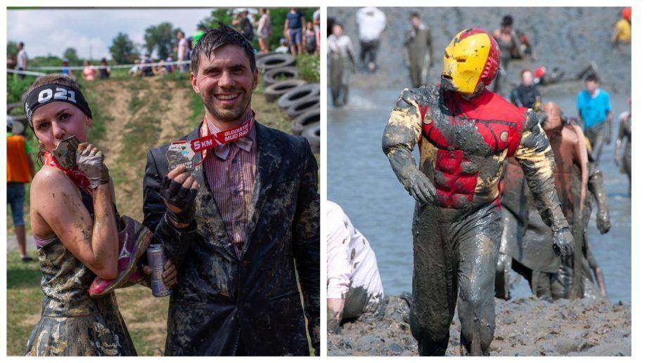 Нескучный спорт: грязевые забеги в необычных костюмах