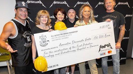 Metallica пожертвовала 250 тысяч евро на строительство детской больницы в Румынии