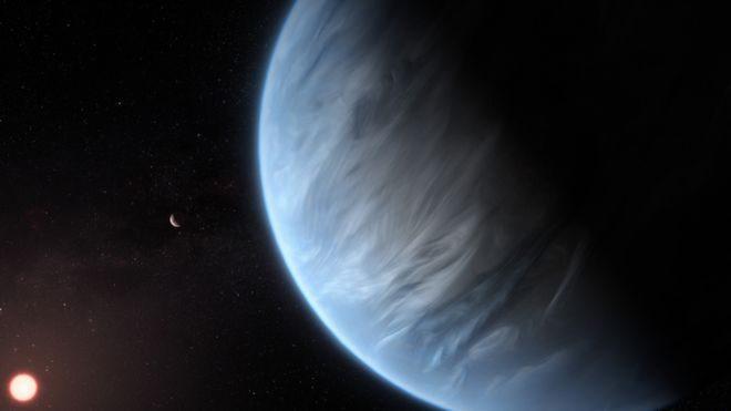 На недавно обнаруженной планете нашли воду. Это означает, что на ней может быть жизнь