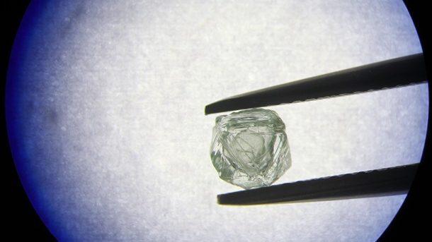 (видео) ВЯкутии добыли алмаз, внутри которого есть еще один алмаз