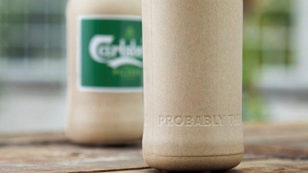 (фото) Созданы биоразлагаемые бутылки для пива из бумаги и древесных волокон