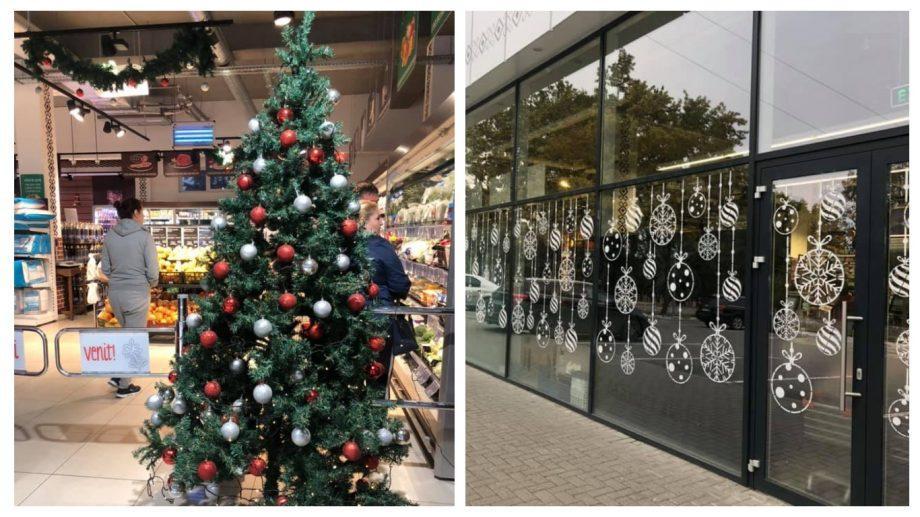 (фото) Один из столичных супермаркетов уже начал подготовку к новогодним праздникам