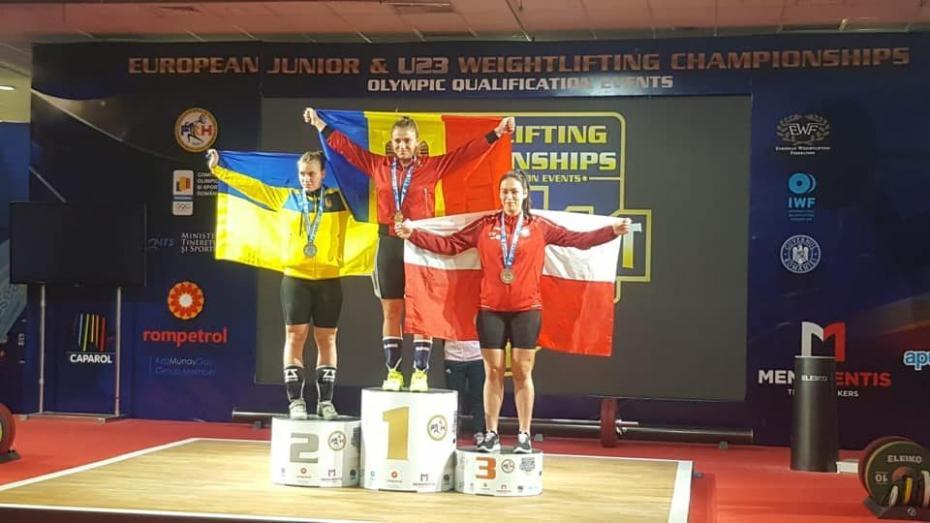 Молдавская тяжелоатлетка Екатерина Третьякова завоевала золото чемпионата Европы среди юниоров