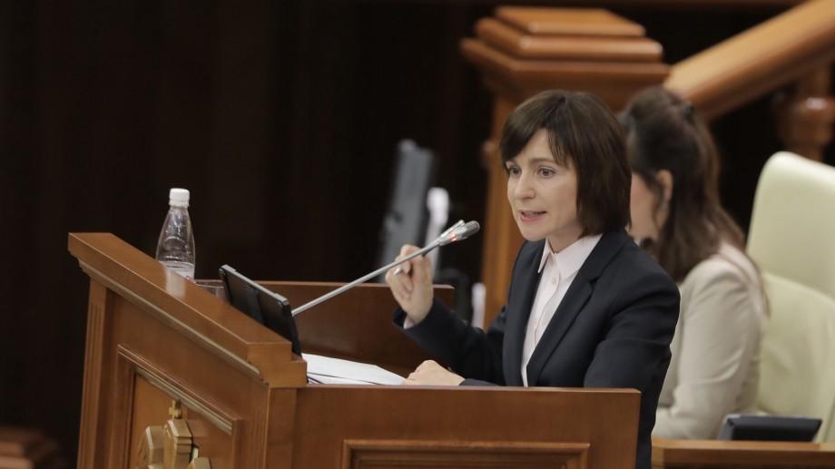 Реакция Майи Санду на то, что Парламент отправил Правительство в отставку
