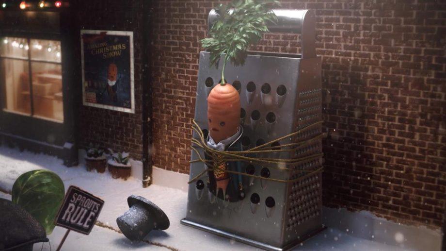 (видео) Морковка Кевин стал звездой шоу в Рождественской кампаниии Аldi