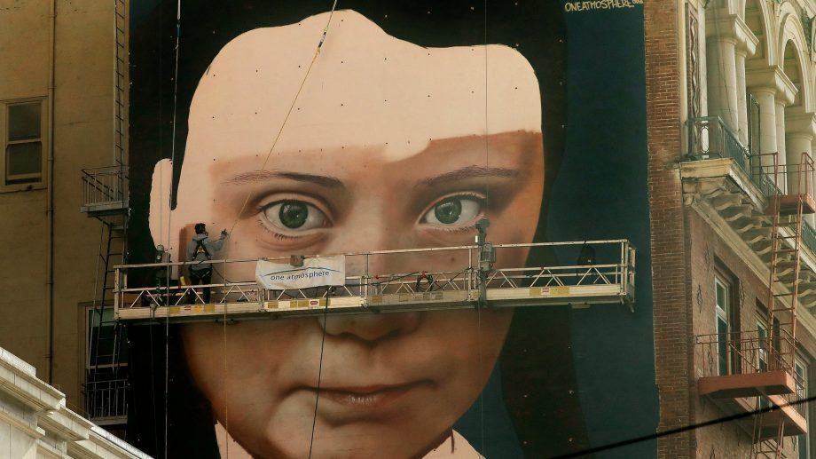 Greta is watching you! На стене дома в Сан-Франциско появится портрет Греты Тунберг