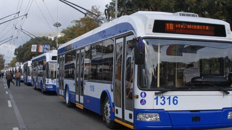 (фото) Датчики слежения были установлены во всех троллейбусах Кишинева. В некоторых приложениях уже можно проследить за их маршрутом