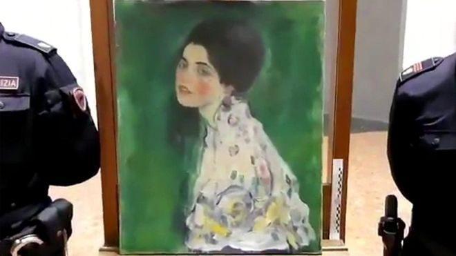 В Италии обнаружили картину Густава Климта, которая была похищена в 1997 году