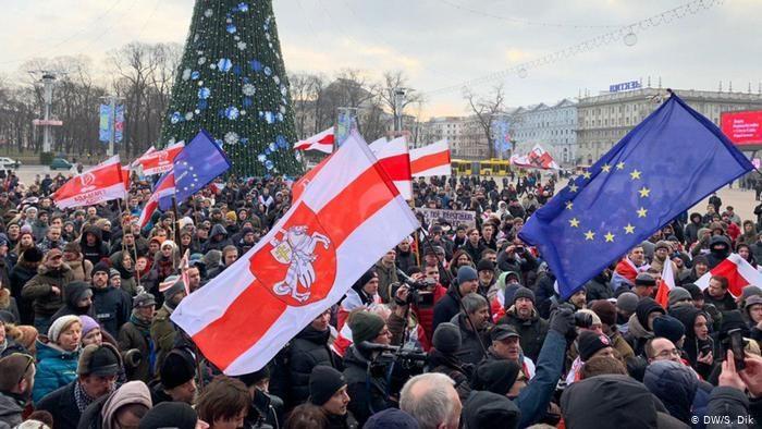 В Минске второй день протестуют против интеграции Белоруссии и России