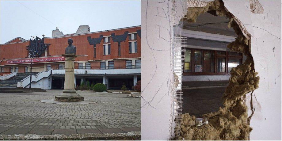 (фото) В главной роли пустота. В каком состояний первый этаж Национального театра «Василе Александри» в Бельцах