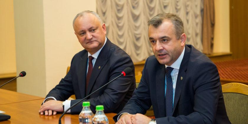 Пресс-конференция Игоря Додона после рабочего совещания с премьер-министром и спикером