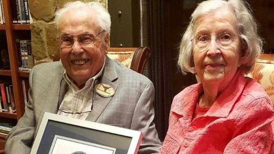 211 лет на двоих: семейная пара из США отметила свой 80-летний юбилей совместной жизни
