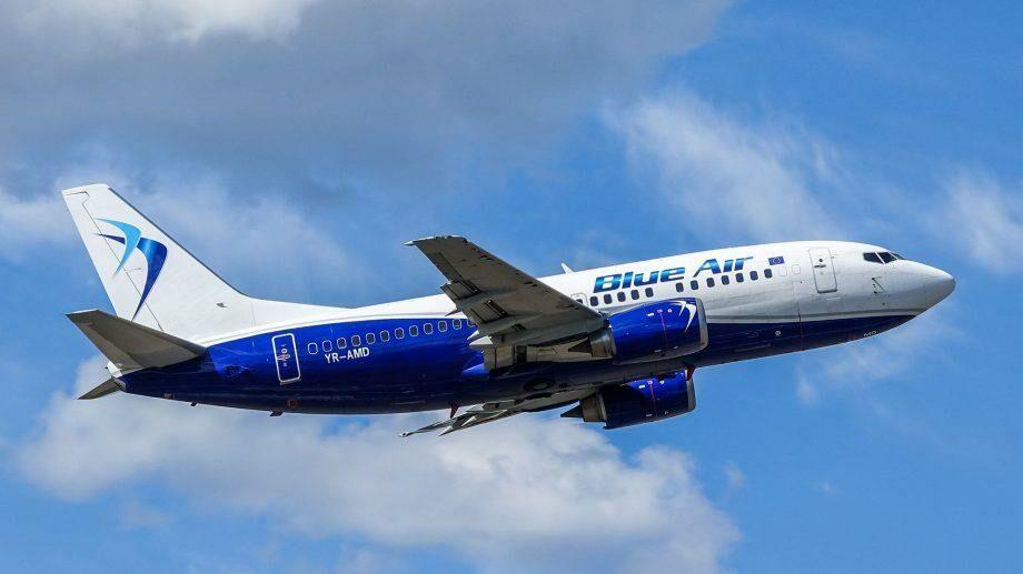 Blue Air запускает семь новых рейсов из Яссы и Бакэу. Сколько будут стоить билеты