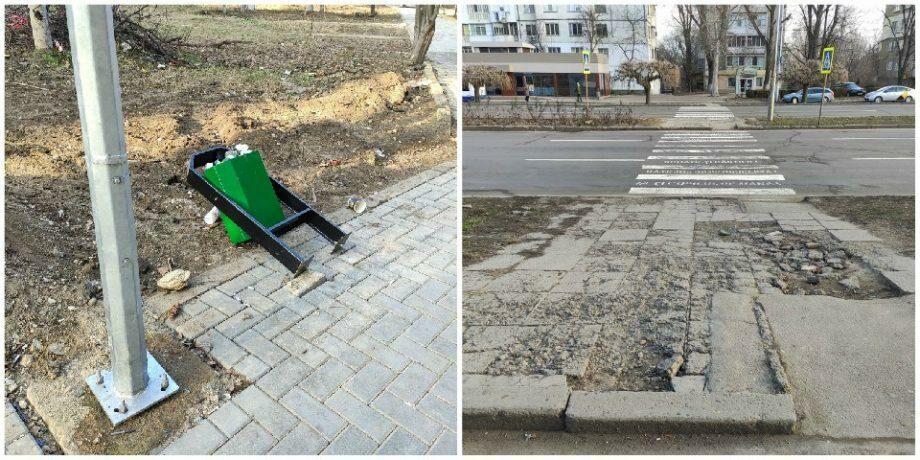 (фото) Горожане не довольны ремонтом пешеходной аллеи на Ботанике