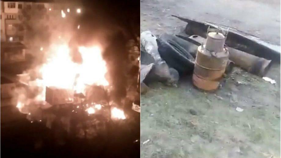 (видео) Ночью в столичном секторе Букань загорелся гараж. Причина и обстотельства выясняются