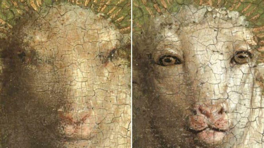 В Бельгии отреставрировали Гентский алтарь XV века. Ягненок получился очень своеобразном