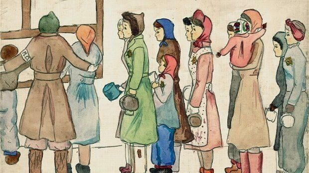 (фото) «Отец сказал мне — рисуй все, что ты видешь». В Нью-Йорке открылась выставка рисунков, сделанных жертвами Холокоста