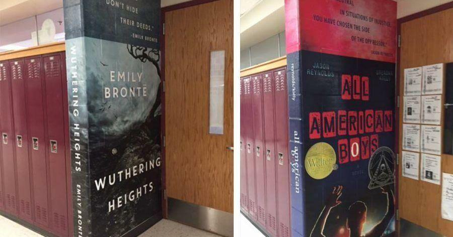 (фото) В американской школе гигансткие обложки книг стали элементом декора и необычным методом поощрения чтения