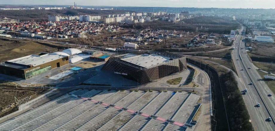 (фото) Работы по строительству спортивного комплекса «Кишинев-Арена» завершены на 99%