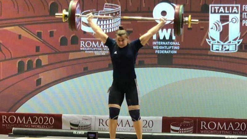 (видео) Тяжелоатлетка Елена Кыльчик завоевала две медали на чемпионате мира в Риме