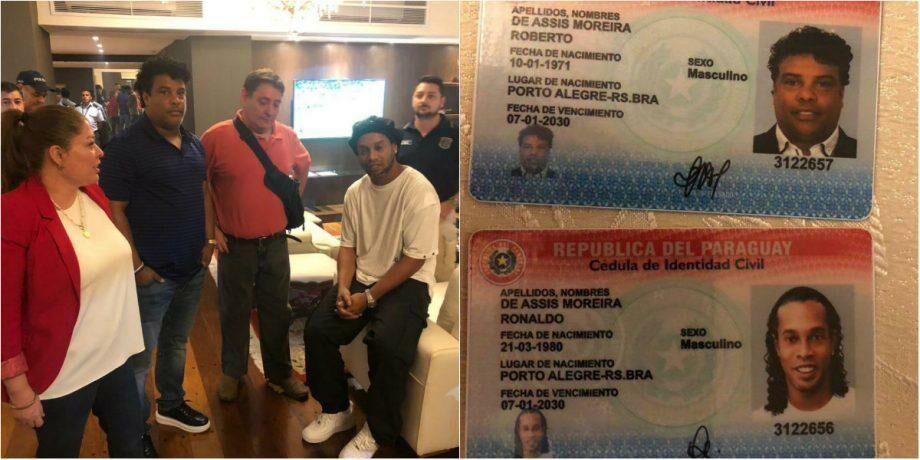 Роналдиньо подозревается в использовании фальшивого паспорта для въезда на территорию Парагвая