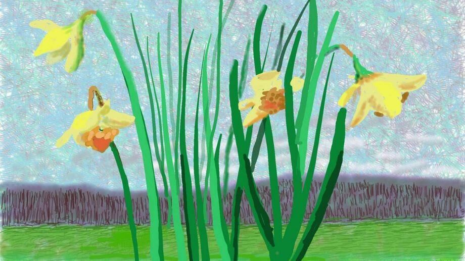 Дэвид Хокни написал картину «Помните, что они не могут отменить весну»