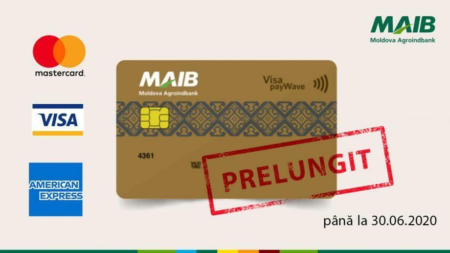 MAIBпродлевает срокдействиявсех банковских карт