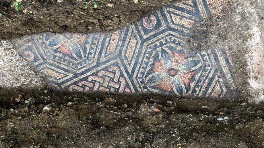 (фото) Под виноградником недалеко от Вероны нашли отлично сохранившийся мозаичный пол