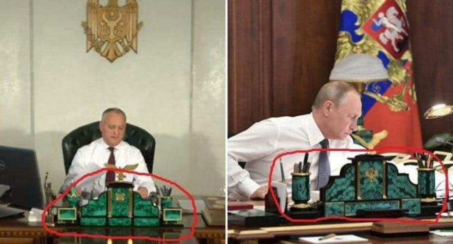 Как у Путина: сколько стоит письменный набор на рабочем столе Игоря Додона