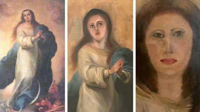 В Испании реставратор-любитель испортил картину знаменитого живописца XVII века