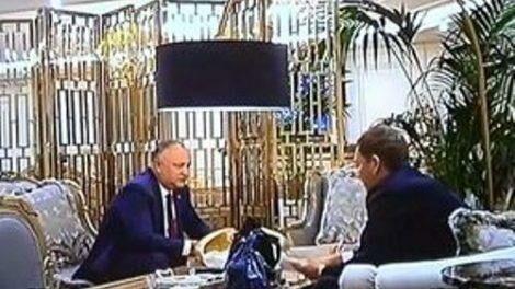В сети появилось новое видео на котором Додон хвастается Плахотнюку, что кричал на Козака
