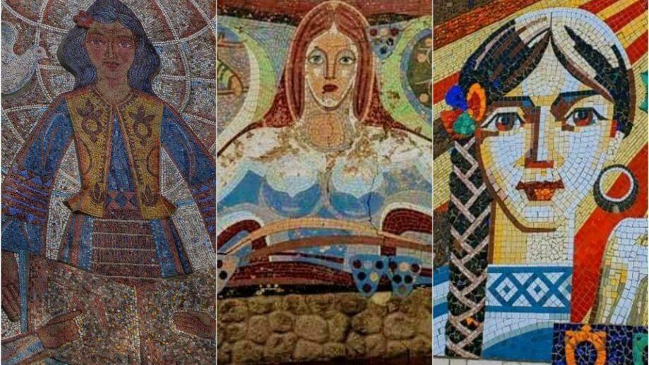 (фото) Женщина глазами мастеров прошлого века. Мозаичные произведения искусств в Молдове