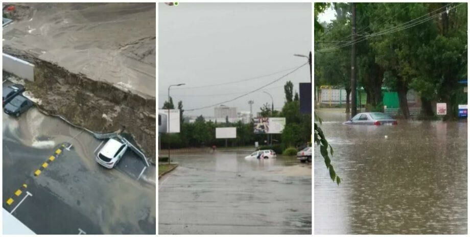 (фото) Затопленные улицы, поврежденные машины и рухнувшие стены. Ион Чебан: «Муниципалитет не имеет возможности справиться с такими ситуациями»