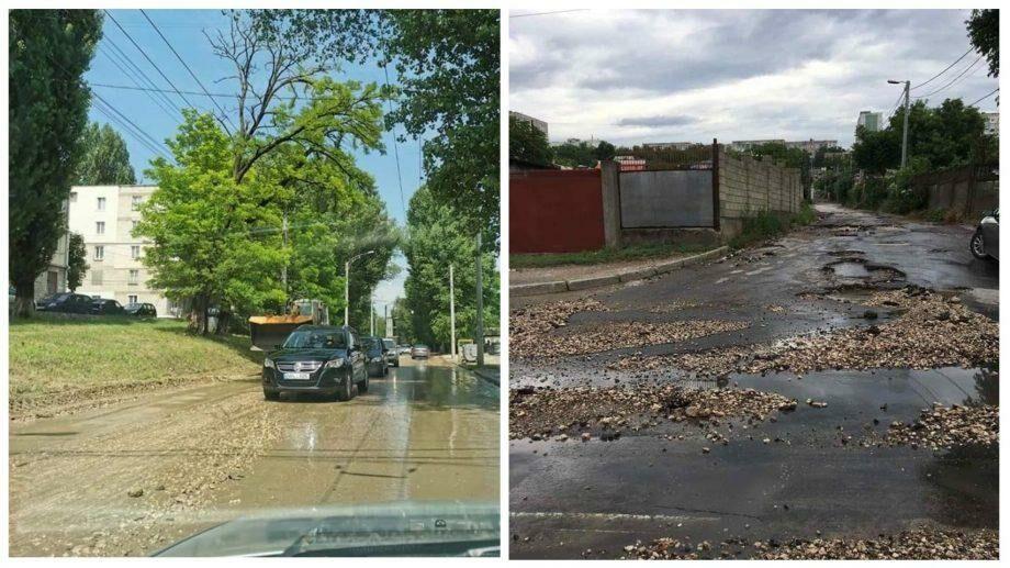 (фото) Кишинев после дождя. В столице устраняют последствия осадков