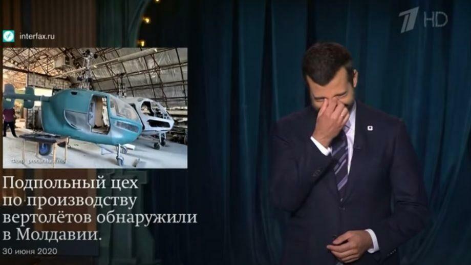 (видео) «В Молдавии вертолеты запрещены Конституцией». Вертолеты, произведенные в Криулянах «долетели» до Урганта